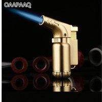 Compact Butane Jet Lighter Torch Lighter Gasoline Fixed Fire Cigarette Gas Gun Lighter Windproof Metal Petrol