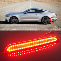 July King Car Side Red LED Night Driving Lights Yellow Turn Signals Light Case For Ford