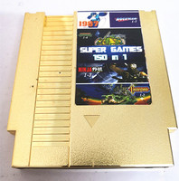 Free150 in1Rockman123456 MarioBros 123 NinjaTurtles Kirby's Adventure,Gold plated 72 Pins Game Cartridge Replacement Shell