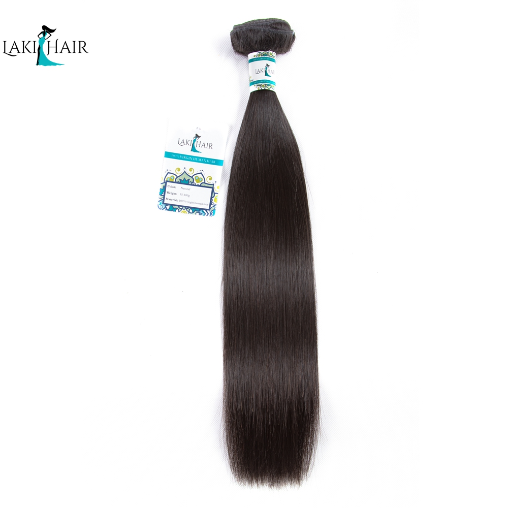 Brazilian Bundles Straight Hair Bundles Human Hair Bundles 1 Piece 100% Remy Hair Extension Natural color LaKihair