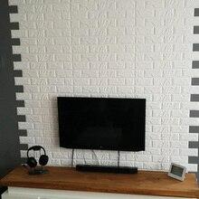 3D DIY Декор для дома, кирпичная стена, наклейки для гостиной, водостойкая пена, самоклеющиеся обои для комнаты, искусство 60*60 см, сделанные наклейки для кухни