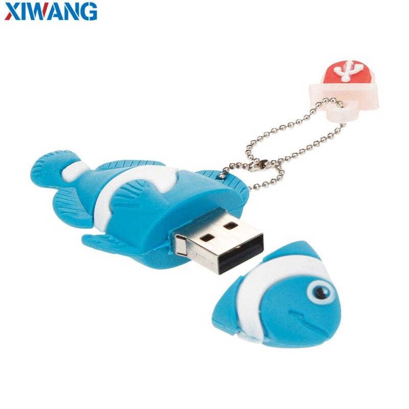 Image 2 - USB Flash Drive 128GB 64GB 32GB Cartoon  nemo fish pendrives pen drives 16GB 8GB Finding Nemo USB 2.0 flash memory stick u disk-in USB Flash Drives from Computer & Office