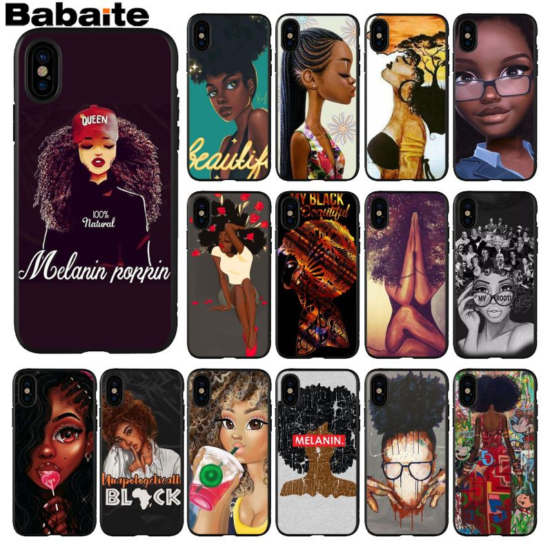 194we Melanin Poppin Queen Soft Silicone Tpu Cover Case For Honor 10 Huawei P 10 20 Lite Y5 Y6 Prime 2018 Mate 10 20 Lite Attractive Fashion Clothing, Shoes & Accessories