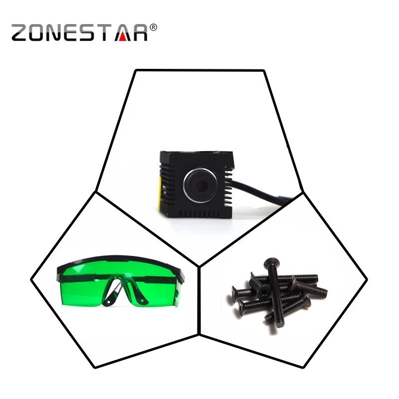 New Arrival Laser engraver cutting marking upgrade DIY kit for zonestar P802/D805/D806/Z5/Z6/Z8/Z9/Z10 series 3D printer machine