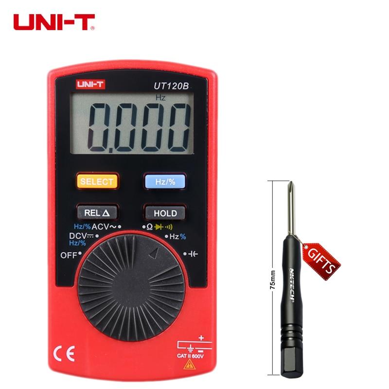UNI-T UT120B Super Slim Pocket Meters Handheld/Palm-Size LCD Digital Multimeters Auto Range Digital Meter Tester