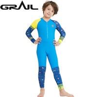 Kids Diving Swimming Suit Swimwear Full Body Jump Suit Dive Wet Suits Rash Guards Boy Girl Surf Swim Suit Water Sports LS 18822