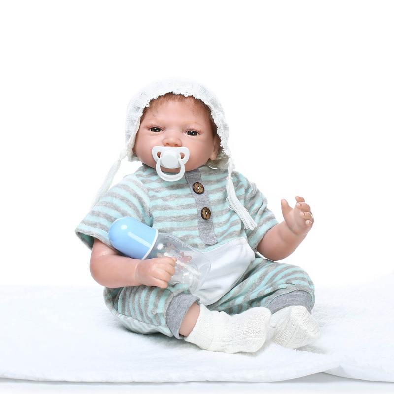 55cm Soft Silicone Sumilation Newbabies Baby Playmates Toys for Child Bedtime Silicone Baby Reborn Doll55cm Soft Silicone Sumilation Newbabies Baby Playmates Toys for Child Bedtime Silicone Baby Reborn Doll