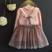 2f21dbe4175f Vestito Dalla Neonata Completa Maniche Autunno Inverno Principessa Caldo  Rosa Abbigliamento Bambini Vestiti Per 2-7Y Vecchia Rag.
