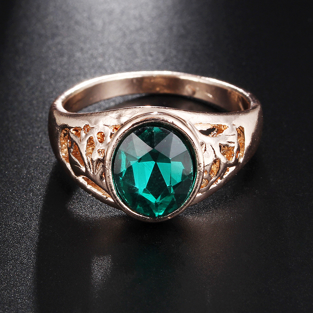G17 High Quality Vintage Crystal Rings For Women & Men Gold Color Statement Fing