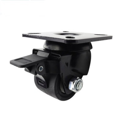 2PCS/LOT  Wheel D:50mm 2- inch Casters With Brake Resistance Wheels (Loading 300kg)