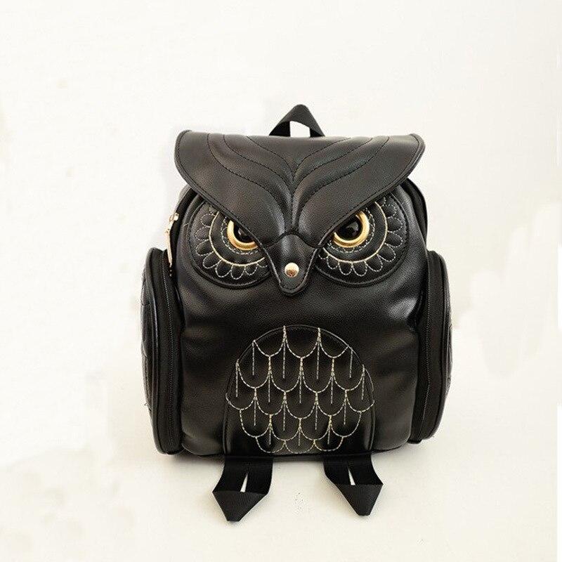 Women Backpack School-Bags Girls Cartoon Fashion For Owl Cute