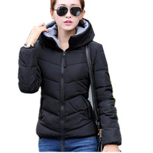 Winter Jacket 2016 New Hooded Coat Women warm winter coat slim short Parkas Jacket casaco feminino cotton coat QH194