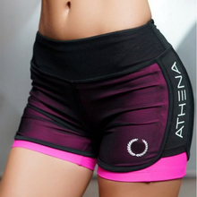 2017 Summer New Women Short for Workout Fashion Casual Active Short Feminino Fake Two Breathable Shorts Women