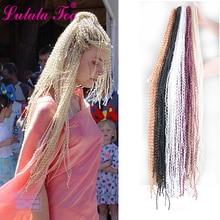 30 inch Zizi Crochet Box Braids Hair Synthetic Curly Braiding Extension 28 Strands/pack 613/1B/#99j/Blonde/Black 50g