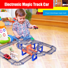 Diecasts Led Electronic Track Toy Cars Inductive Car Mini Slot Educational Thomas Train Bmx Finger Tracks Toys for children Boys