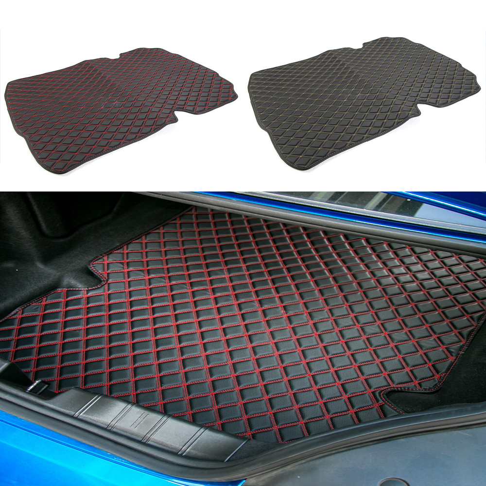HANGUP Leather Car Trunk Cargo Liner Mats Pad Interior Decoration Stickers For Chevrolet Camaro 2017 Up Car Styling custom cargo liner car trunk mat carpet interior leather mats pad car styling for dodge journey jc fiat freemont 2009 2017