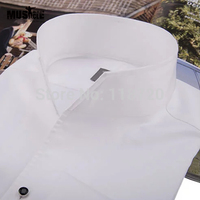 Men's Fashion Tuxedo Shirt,French cufflinks banquet, long sleeve shirt classic stand collar 100% cotton Wedding Free Shipping