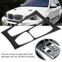 High-end Versão Console Do Painel Do Carro De Fibra De Carbono Painel CD Tampa Guarnição para BMW X5 X6 E70 E71 2007 -2013 Acessórios Do Carro Adesivo