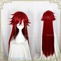 Kuroshitsuji Phantomhive Ciel Cosplay Wig Under Grell Sutcliff Red 100cm Long Straight Hair Anime Black Butler