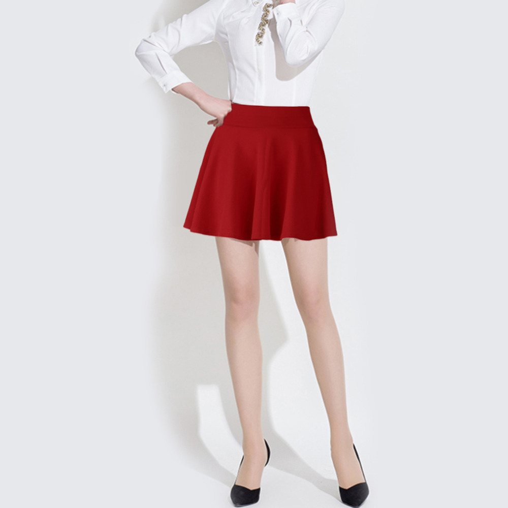 2018 Sexy Women Pleated Skirts Stretch High Waist Skirts Casual Cotton Mini shorts Skirt for Girl
