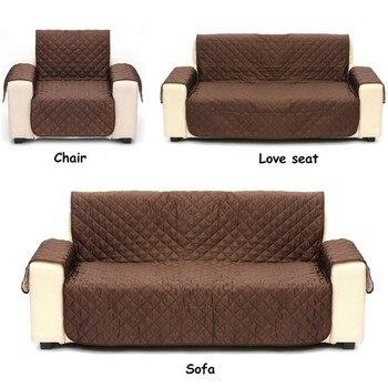 Funda de sofá de gamuza resistente al agua sofá antideslizante manta Anti-mordida acolchado sofá almohadilla Protector de cojín