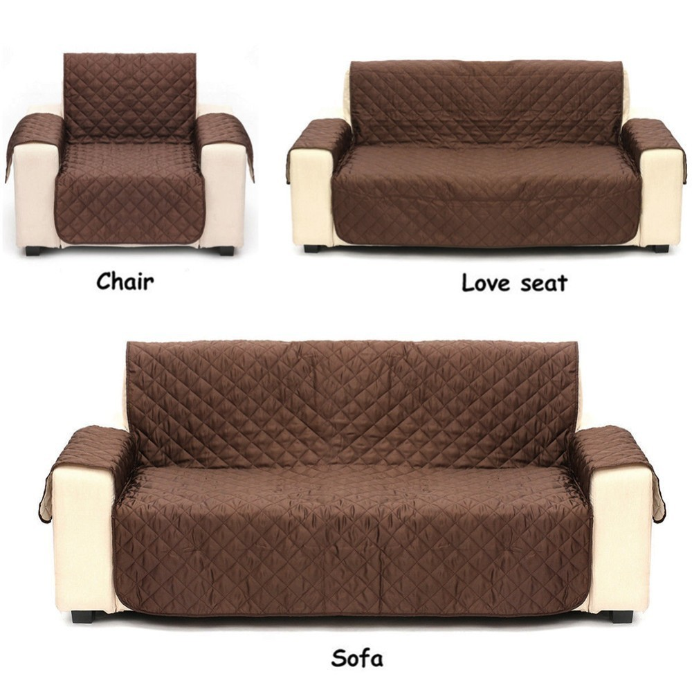 Waterproof Suede Sofa Cover Armchair Couch slip resistant ...