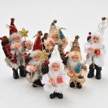 Christmas Decorations Standing Santa Claus Doll Christmas Tree Ornaments Pendant Merry Christmas Xmas Navidad Decor New Year цена и фото