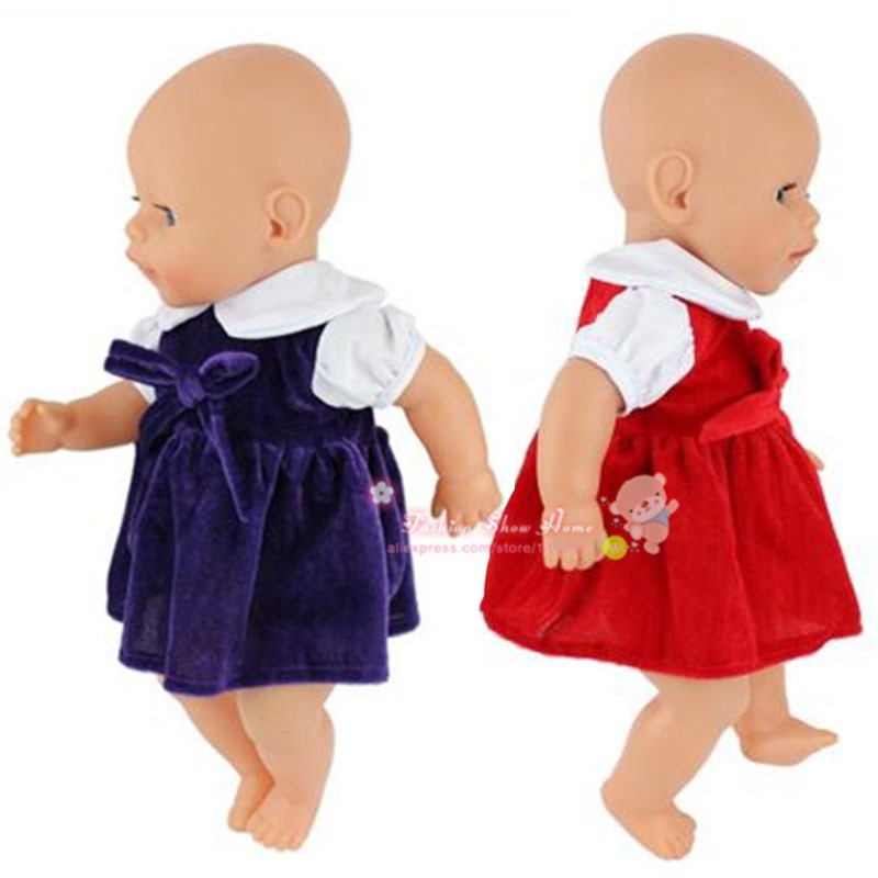 Doll accessories,2color choose dress  Wear fit 43cm Baby Born zapf,  Children best  Birthday Gift 2color choose leisure dress doll clothes wear fit 43cm baby born zapf children best birthday gift only sell clothes