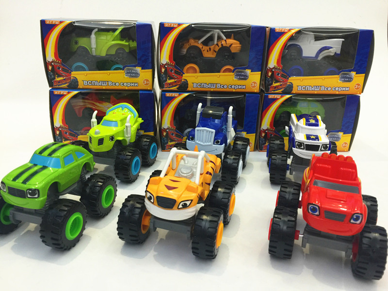 free shipping 6pcslot blaze machines toys transformation vehicle car kids toys for boys childrens