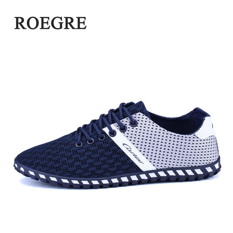 2017 46 blue Respirant Plus Chaussures gray Pour Doux Nouveau Printemps Roegre La Mode Casual Taille Automne Hommes Black Maille TdnwZY