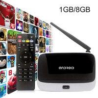 CS918 Android 4.4 TV BOX RK3188 Quad Core DDR3 1 GB Nand Flash 8 GB Q7 Inteligentny Mini PC WIFI Streaming Media Player Dekodera