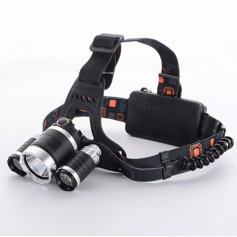 3x  XM-L U2 LED 5000Lm Rechargeable USB Headlamp Headlight Light Head Lamp+ 2 x 18650 Battery 3x xm l l2 8000 lm rechargeable headlamp outdoor headlight linterna frontal for hunting 18650 battery charger usb cable