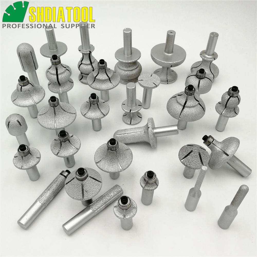 SHDIATOOL 1pc Vacuum Brazed Diamond Router Bits With 1/2