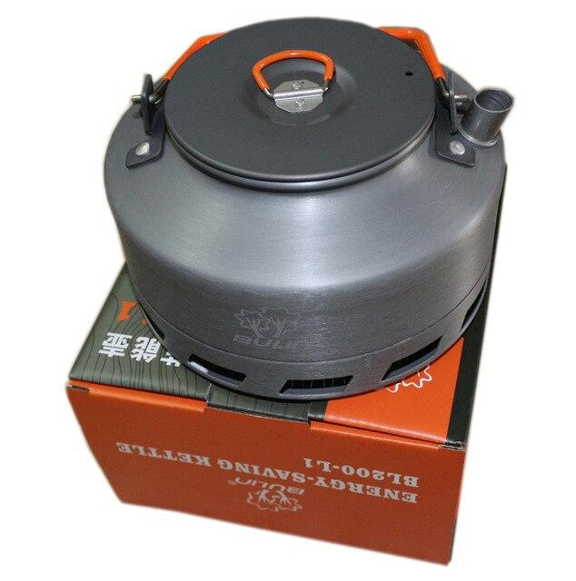 Bulin 1.1L Camping Kettle Heat Exchanger Tea Pot Picnic Kettle BL200-L1 outdoor kettle coffee