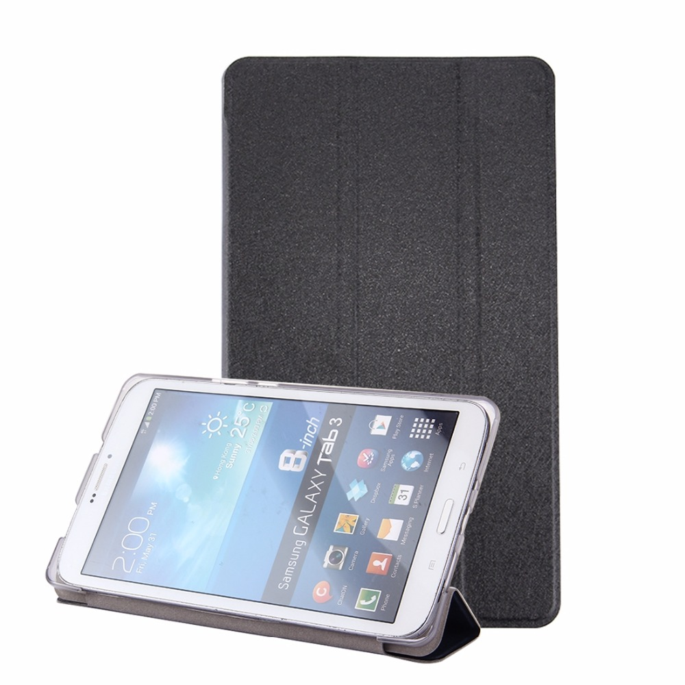 For Huawei MediaPad M3 Lite 8.0 inch Silk Texture Horizontal Flip Leather Case with 3-folding Holder cube wp10 steel wire texture horizontal flip leather case with holder