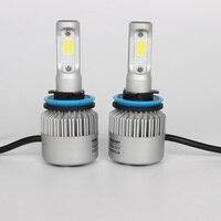 S2 H4 H7 H11 9005 Led Car Headlights 36w 72w 7200lm 7600lm Car Led Light Bulbs