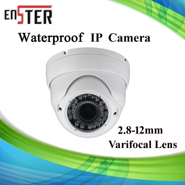 ФОТО New 1.0MP 720P HD Vandalproof  Varifocal Lens Metal Dome IP Camera 36 PCs IR-LED 25m IR Range  CCTV Cam Support POE