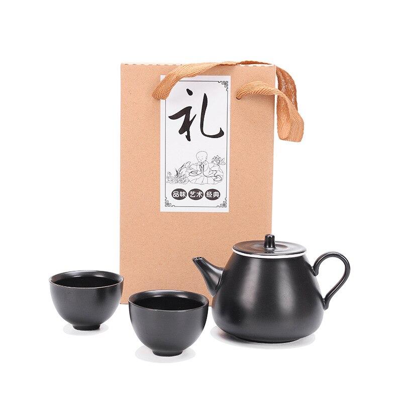 New style Ding Kiln Kung Fu Tea Set 1pot 2cups,Travel teaware set ,Ceramic TeaCup Tea Pot Set, Drinkware Paper package