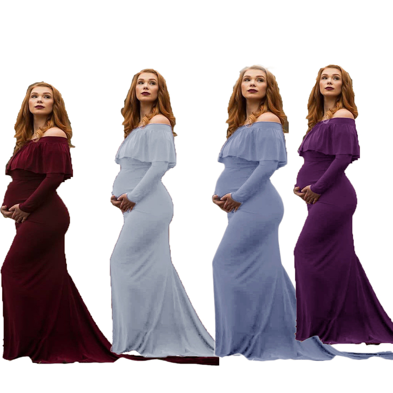 Hot New Maternity Photography Props Maternity Gown Lace Maternity Dress Fancy Shooting Photo Pregnant Dress Large size S-XL hot sale great deal maternity binding body shaping postpartum staylace maternity supplies abdomen waist belt pregnant panties n