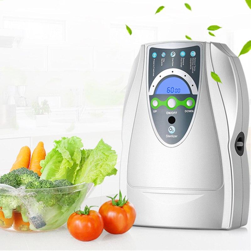 Озоновый очиститель воздуха генератор бытовой портативный озона Дезинфектор для фруктов, овощей воздуха Стерилизация воды с ЕС/США Plug