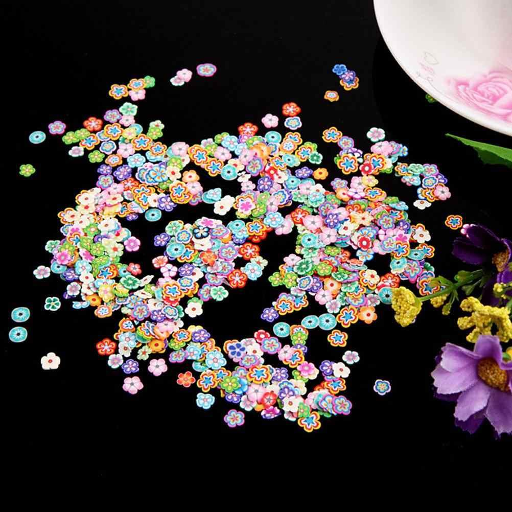 1000pcs Fruit slices Filler For Nails Art Tips Slime Fruit For Kids DIY slime Accessories Supplies Decoration Soft pottery