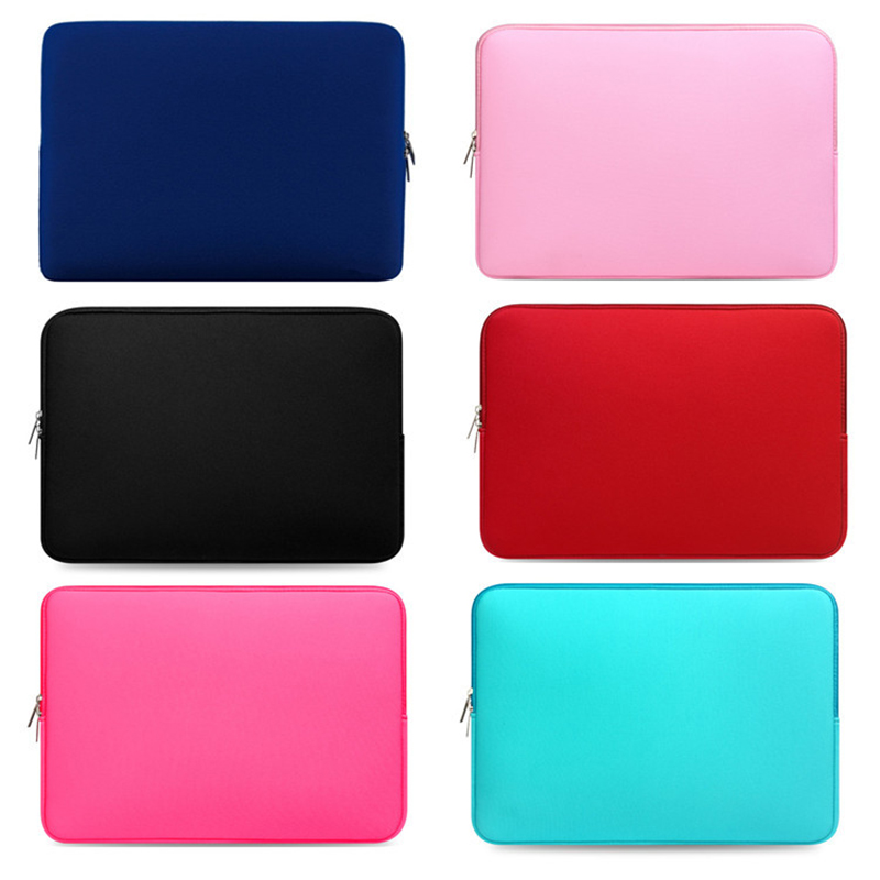 Mjuk Neopren Laptop Notebook Liner Sleeve Case Datorväska för 7 till 17 tums IPAD Macbook Pro Air Retina Tablet Liner Handväska