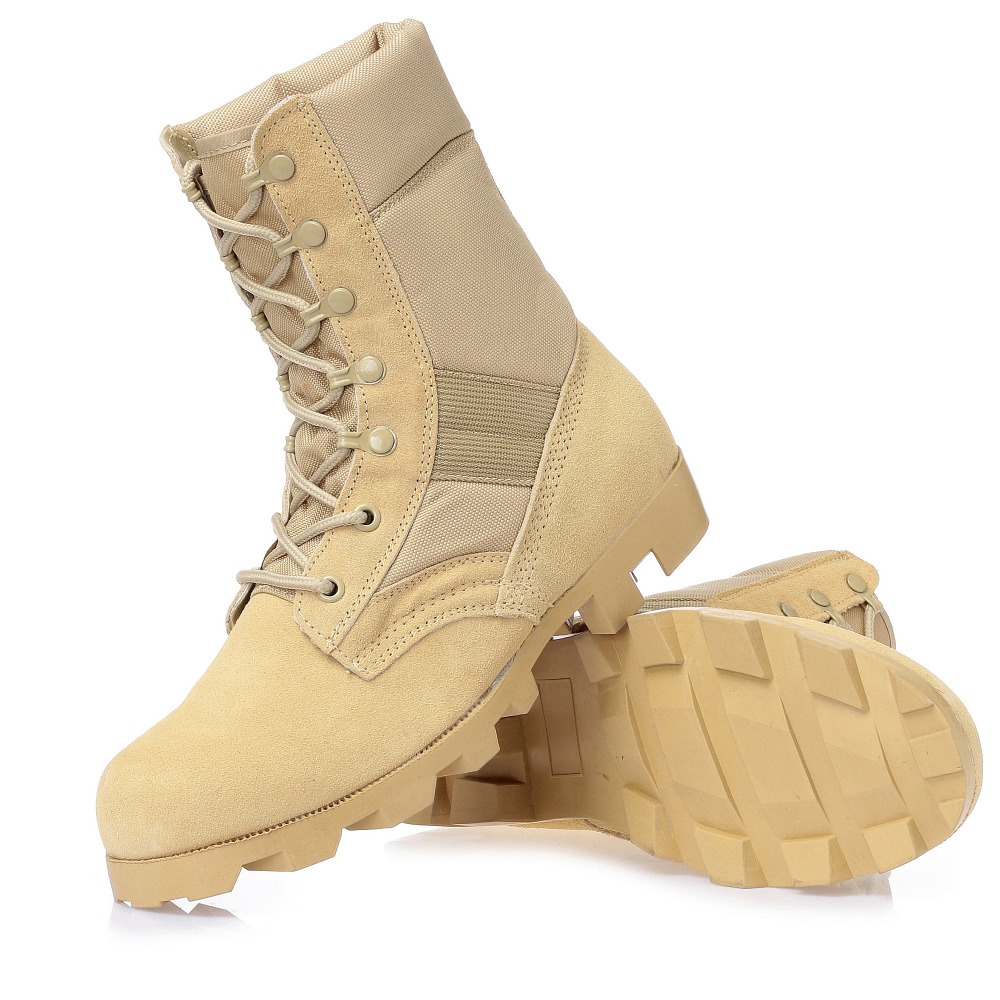2019 New Army Boots Big Size 39-45 Combat Desert Sandy Black Boots Construction Hiking Outdoors Durable Comfortable