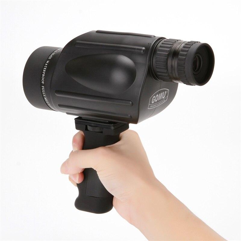 Gomu 10-30X50 HD Zoom Monocular Pássaro Relógio de Nitrogênio de Alta qualidade Telescópio Binóculos Para A Caça À Prova D' Água À Prova de Choque Tripé