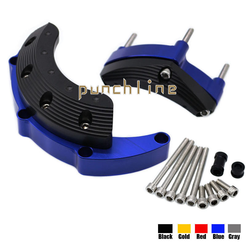 For YAMAHA MT09 FZ09 FZ-09 MT-09 Tracer 2014-2016 Motorcycle Accessories Engine Protector Guard Cover Frame Slider Blue for yamaha mt 07 fz 07 mt07 fz07 2014 2016 motorcycle accessories cnc aluminum engine protector guard cover frame slider blue