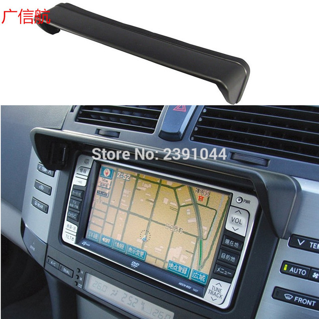 GPS Navigation Hood Sun Shade Navigator Screen Block Mask Universal Car  Clip Auto Parts Navigation audio shade block anti-glare f7fbe4319f6