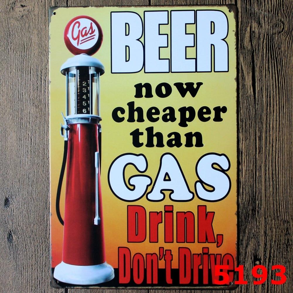 Vintage USA American Tin  Gas Station Gasoline Advertisement 30 x 20 cm