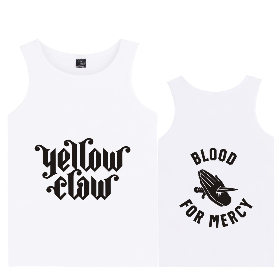 Fashion funny BTS kpop Yellow claw Summer   Tank     Top   Cotton Vest Homme hip hop blusa masculina plus size 4xl   tank     top