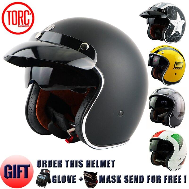 TORC MOTO шлем Casco Capacetes винтажные мотоциклетные шлемы Мода цвет мотоциклетный шлем Телескопические линзы шлем скутера t57