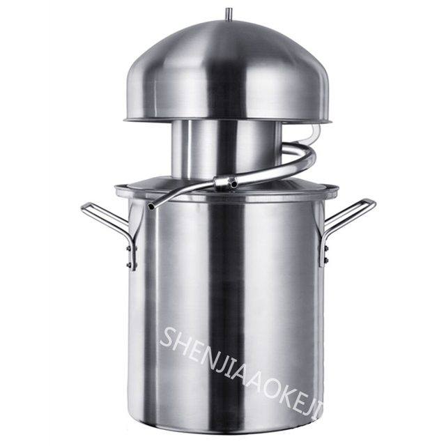 1PC Anti-paste pot distiller NB10 Steamed wine Pure essential oils machine dew machine 304 stainless steel